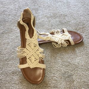 Mossimo Supply Co. Shoes - Mossimo Braided Sandals- Ivory White!